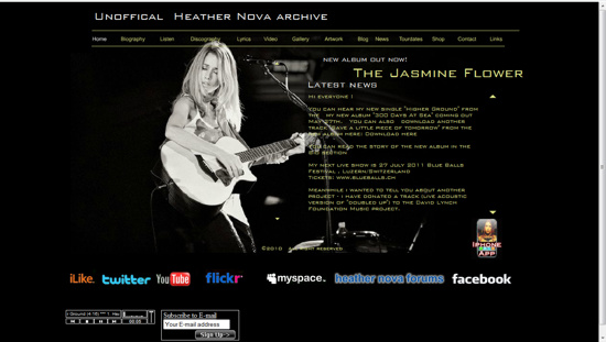 the heather nova flash site