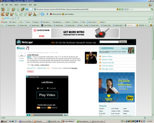 Screenshot of Netscape