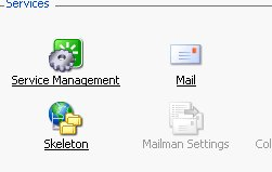 Click on the mail icon to adjust the mail setting of your web server